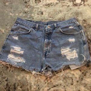 VINTAGE Wranglers turned into Stylish Jean Shorts